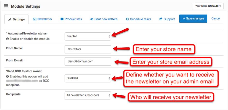 Documentation: AutomatedNewsletter Extension